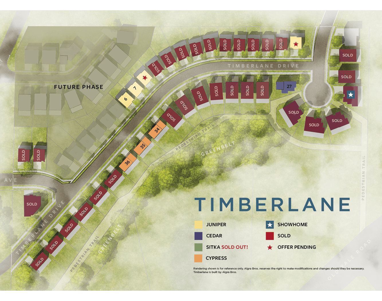 Site Plan for Cypress Models