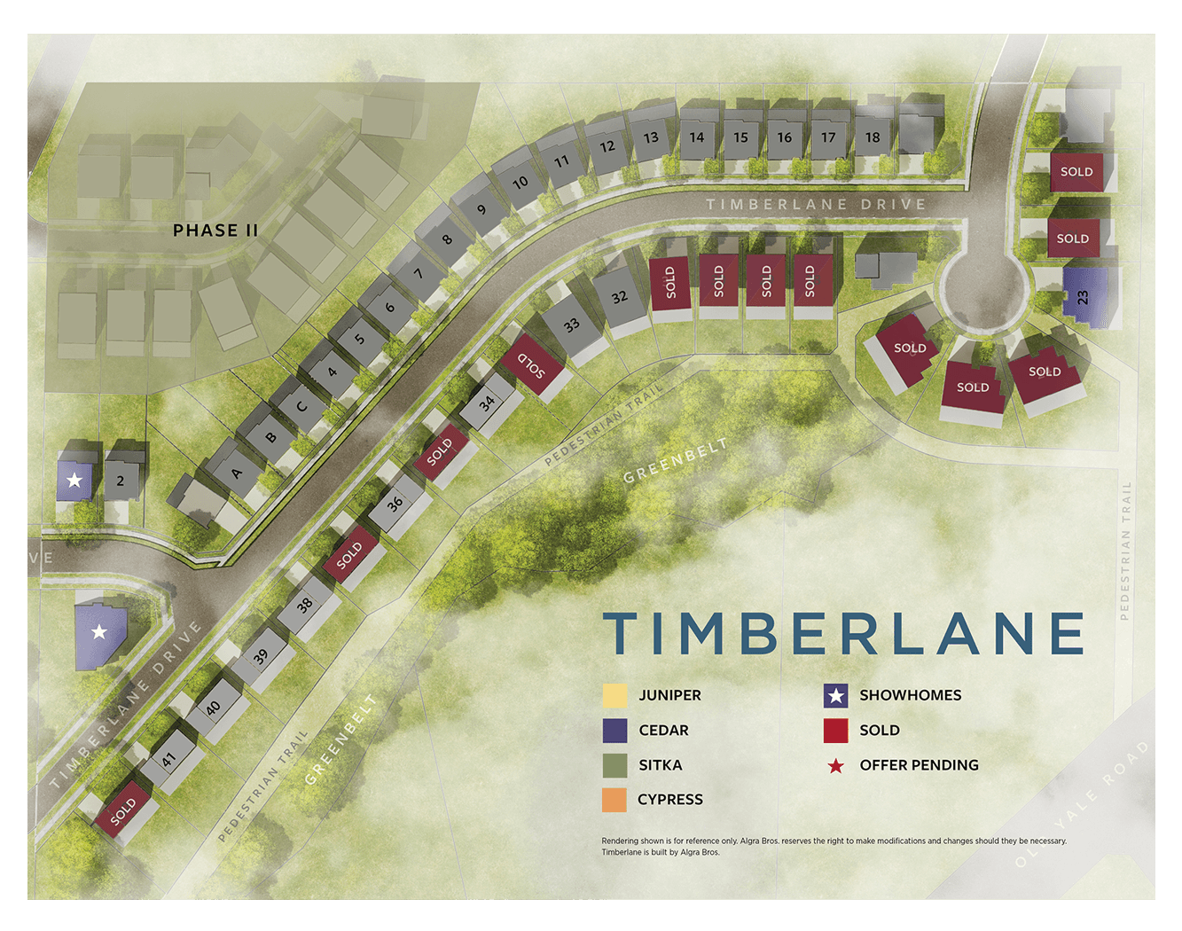 Site Plan for Cedar Models